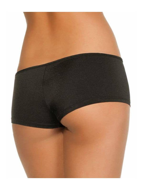 Women's Black Lycra Booty Shorts - Main Image