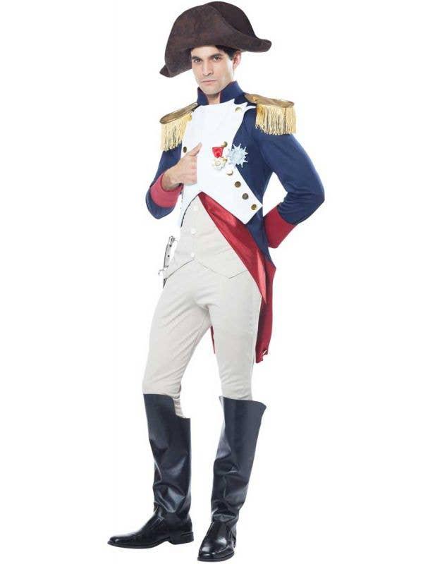 Men's French Emperor Fancy Dress Costume - Main Image