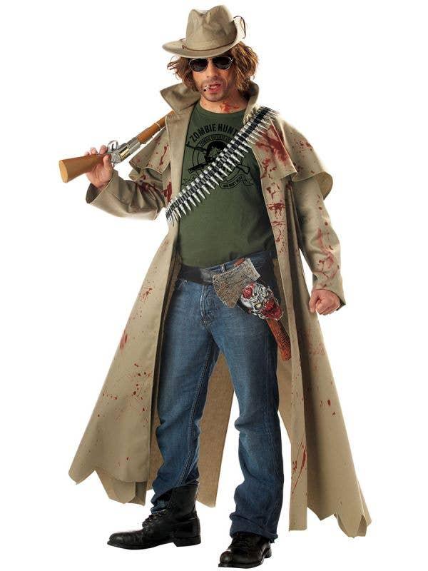 Rugged Men's Zombie Hunter Halloween Costume - Main Image