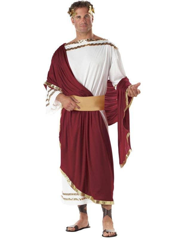 Emperor Caesar Men's Roman Toga Costume Main Image