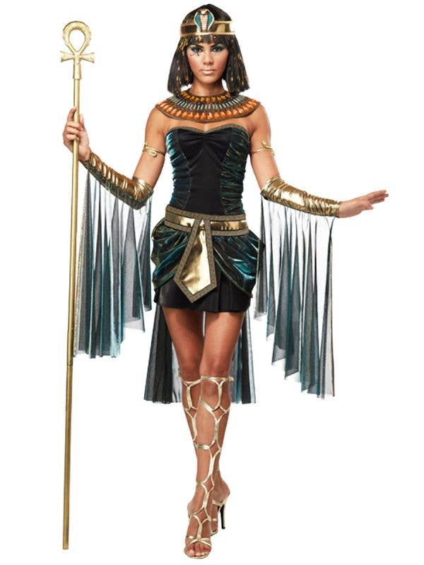 Women's Sexy Egyptian Goddess Deluxe Costume Front View