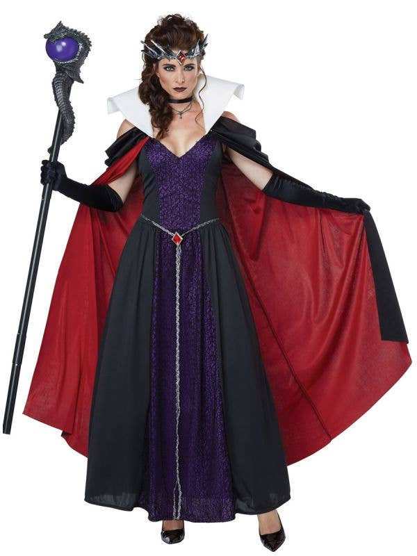 Women's Evil Storybook Queen Maleficent Fancy Dress Costume Close Image