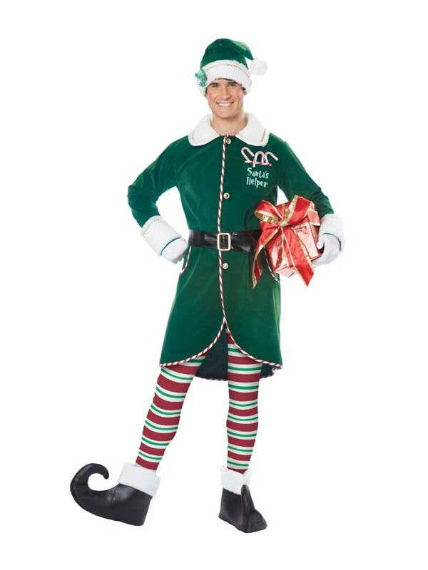 Deluxe Elf Shoes Green Santa/'s Helper Costume Accessory Adult Christmas