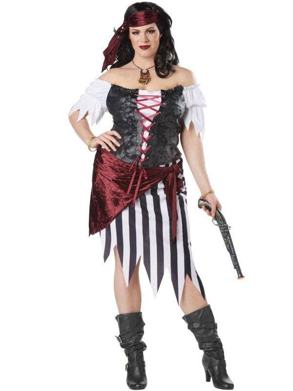 Women's Plus Size Pirate Beauty Fancy Dress Costume Main Image
