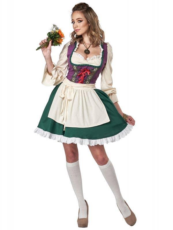 Oktoberfest Women's German Beer Garden Girl Costume - Front Image