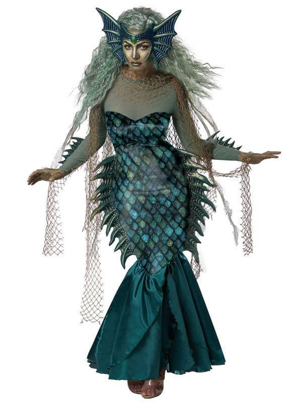 Deluxe Dark Sea Siren Women's Halloween Costume - Front Image