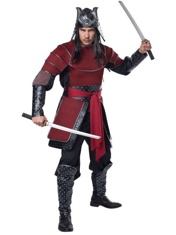 Deluxe Samurai Warrior Men's Costume - Front Image