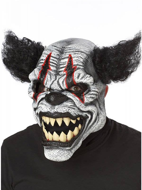 Deluxe Last Laugh Evil Clown Ani-Motion Halloween Costume Mask Accessory View 1