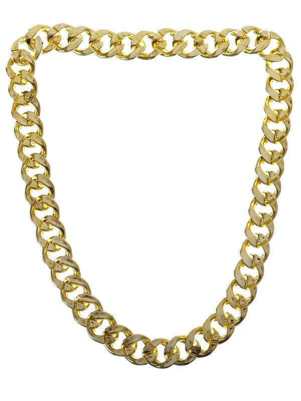 Jumbo Thick Gold Chain Necklace Gangster Pimp Costume Accessory