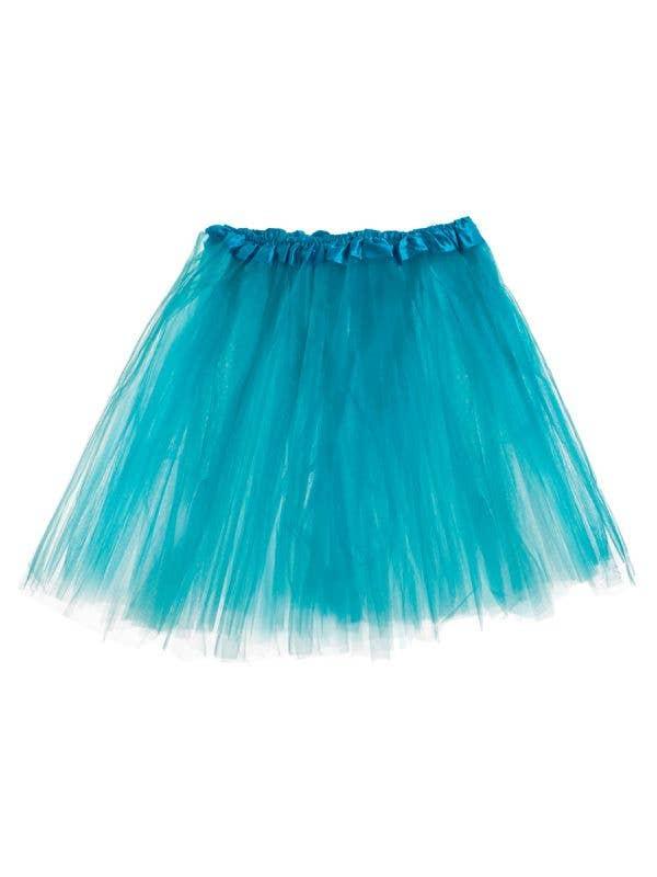 Women's 3 Layer Turquoise Tutu Petticoat Costume Accessory