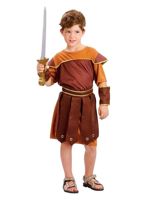 Gladiator Roman Warrior Soldier Medieval Spartan Boys Costume Mask /& Sword