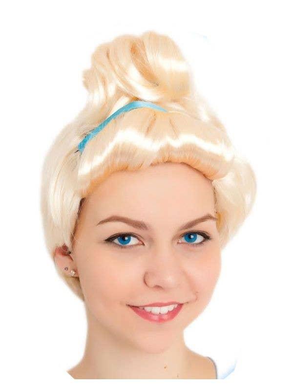 Cinderella Women's Blonde Princess Costume Wig Main Image
