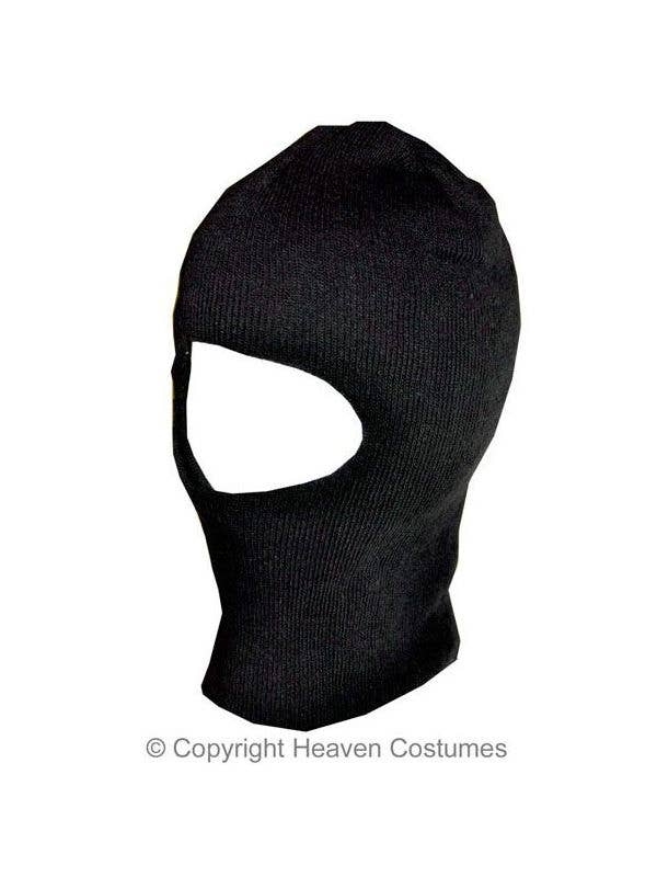 Knitted Black Adults Balaclava Headpiece Thief Costume Accessory Main Image