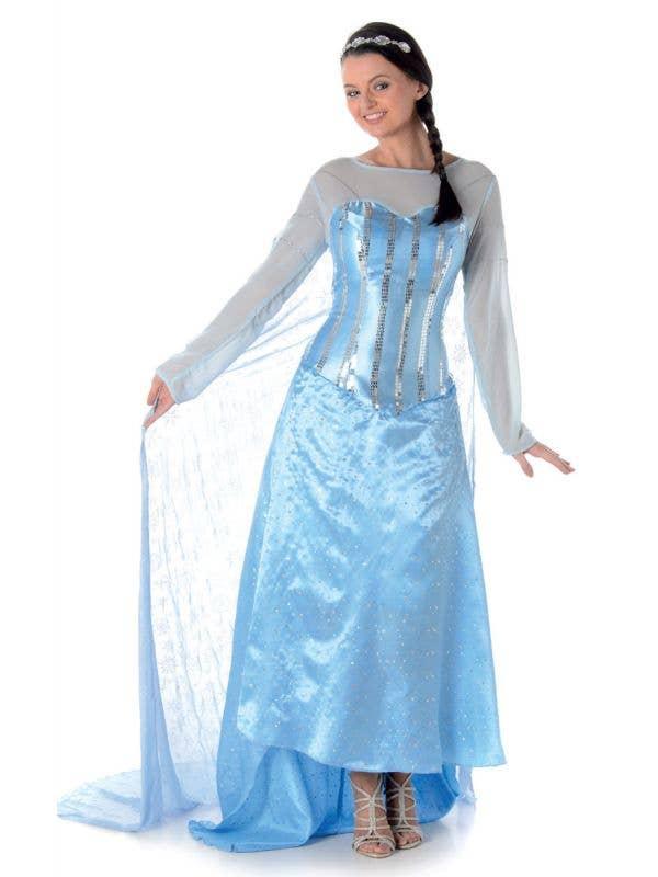 Women's Ice Princess Elsa Fancy Dress Costume Main Image