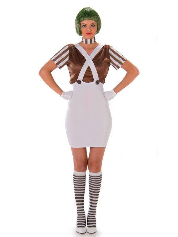 Ladies Oompa Loompa Book Week Day Hen Night Fancy Dress Costume Accessories