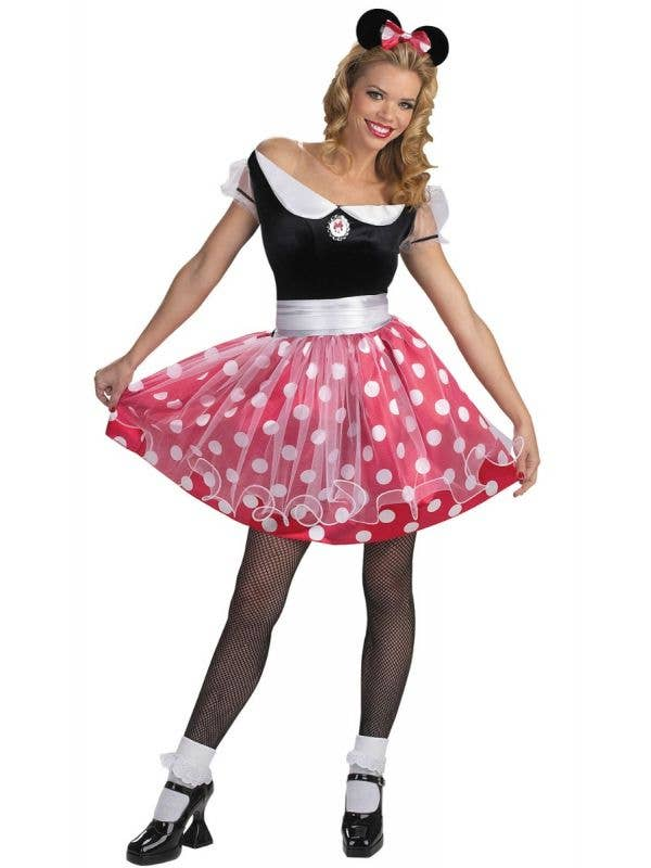 Women's Red and White spotted Minnie Mouse Disney Costume Main Image
