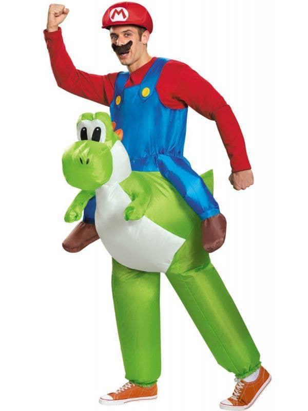 Mario Riding Yoshi Inflatable Mario Kart Fancy Dress Costume Main Image
