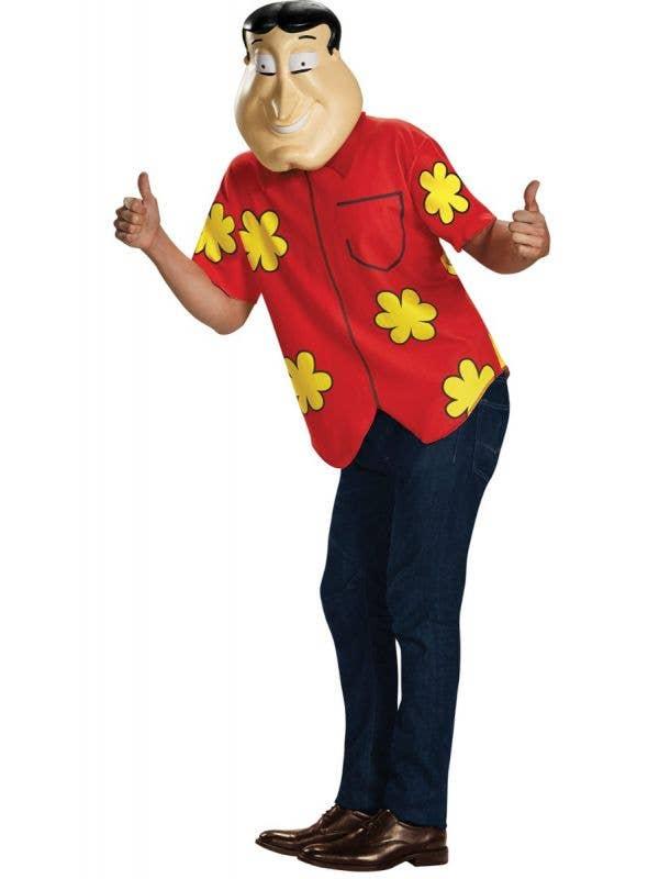 Men's Funny Family Guy Quagmire Fancy Dress Costume Main Image