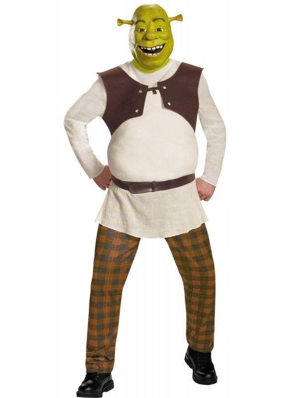 Men's Green Shrek the Ogre Fancy Dress Costume