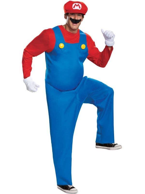 Deluxe Plus Size Men's Super Mario Costume - Front Image