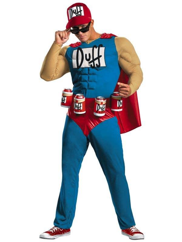 The Simpsons Plus Size Duffman Men's Funny Beer Man Costume - Main Image