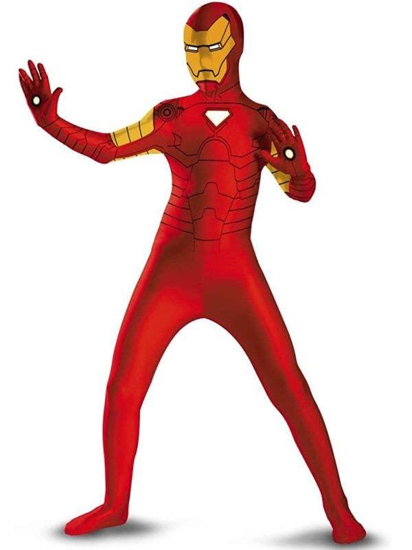 Boys Iron Man Second Skin Fancy Dress Costume
