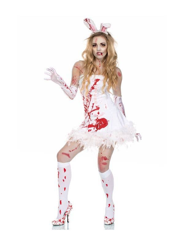 Sexy Zombie Rabbit Slayboy Women's Halloween Costume Main Image