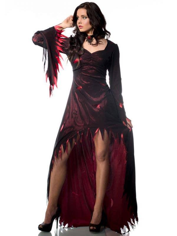 Sexy Sabrina Slasher Women's Vampire Halloween Dress Costume Main Image