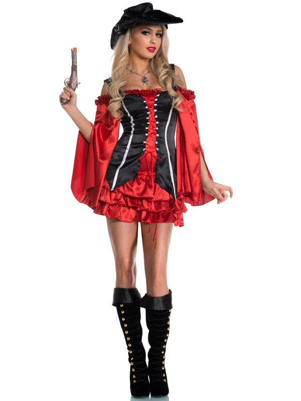 Adult/'s Pirate Costume Renaissance Wench Halloween Fancy Dress Outfit Costumes