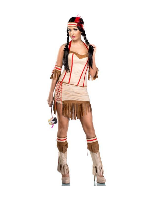 Womens Sexy trbial Babe Fancy Dress Native Costume - Main Image