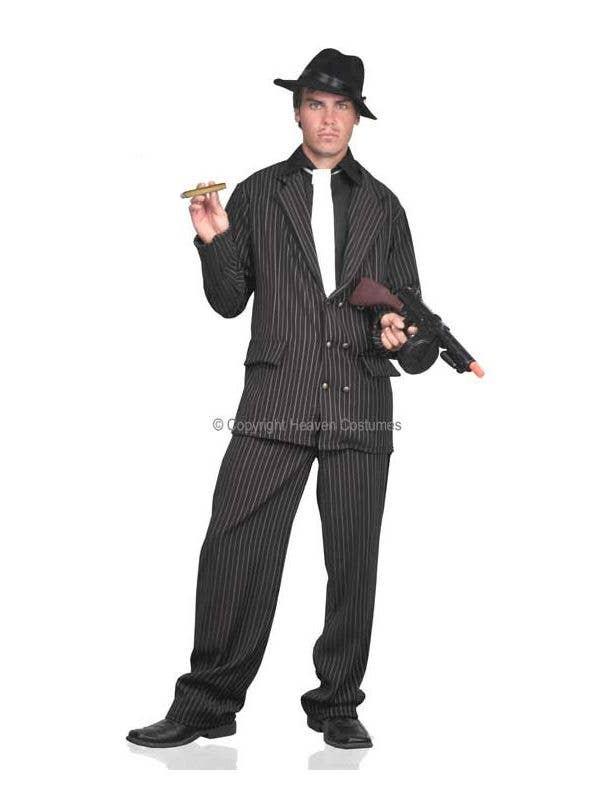 Men's Pinstripe Gangster Mac Daddy Fancy Dress Pimp Costume