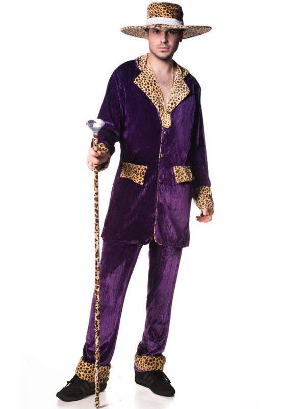 Men;s Top Pimp Mac Daddy Purple Costume Main Image