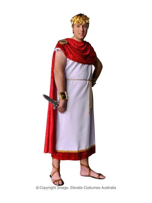 Roman Toga Robe Marcus Brutus Costume Main View