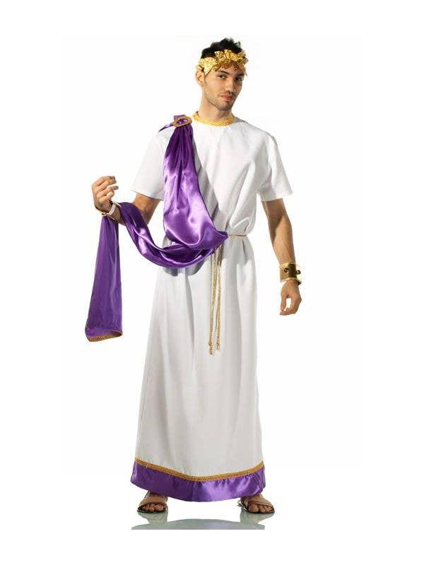 Julius Caesar Robe Men's Roman God Costume Full Length Image