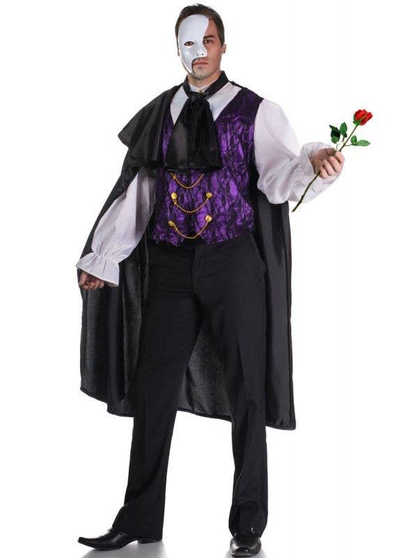 Men's Phantom Of The Opera Fancy Dress Costume Main Image