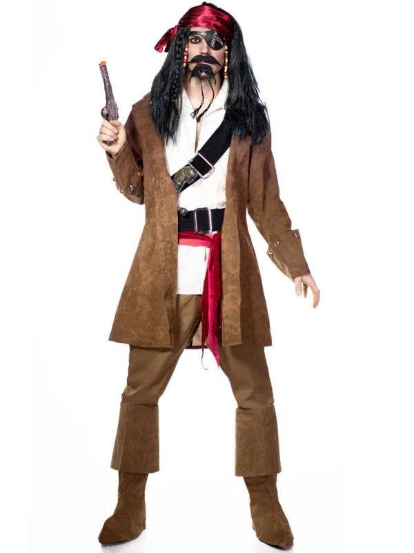 Captain Jack Men's Pirate Fancy Dress Costume - Main Image
