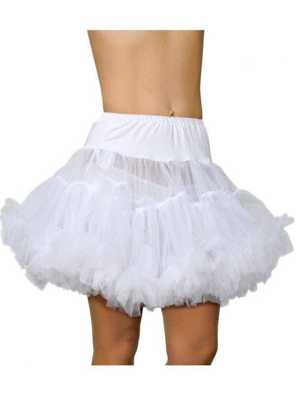 Thigh Length Fluffy and Full White Costume Petticoat