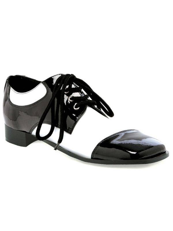 Black and White Mens 1920s Spat Great Gatsby Costume Shoes - Main Image