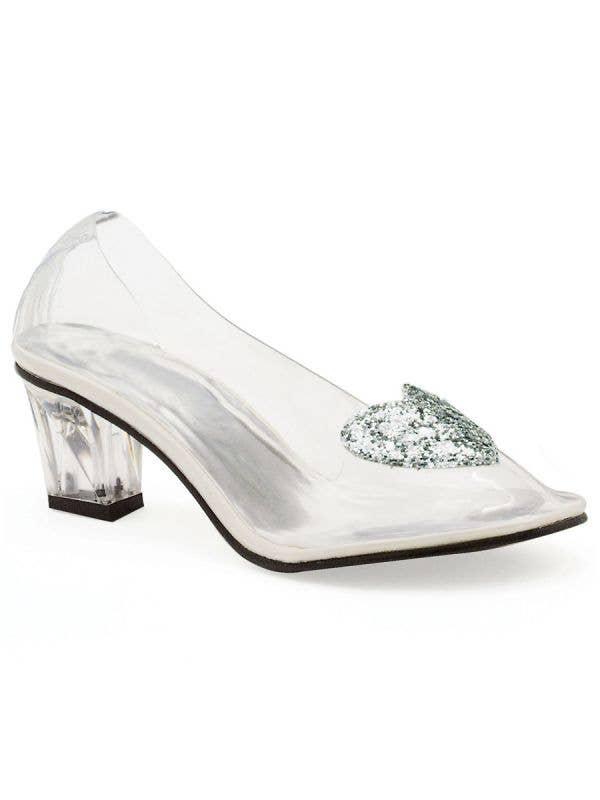"Clear Cinderella Fairytale Slipper Women's 2"" Heel Costume Shoes Main Image"