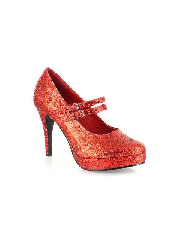 Ladies Wizard Of Oz Red Glitter Heels