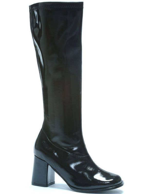 Women's Black Go Go Boots High Heel Platform Heel Shoes 60's Retro Costume Boots Main Image