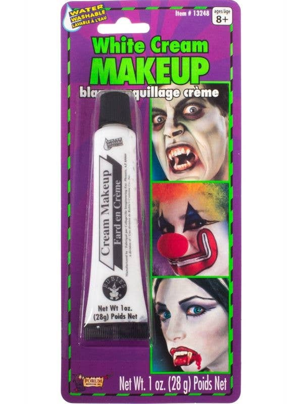 White Cream Makeup Water Washable Face Special FX Theatre Cosmetics