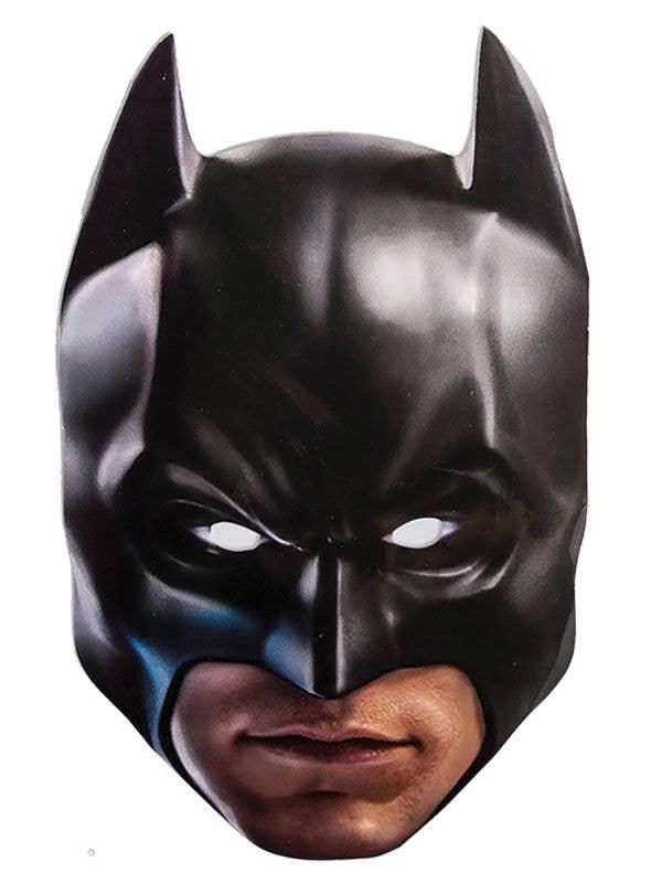 Flat Cardboard Batman Costume Mask Main Image