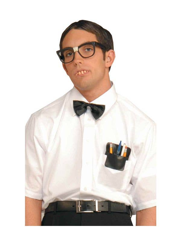 Nerd Costume Accessory Set with Glasses Bow Tie and Pen Holder