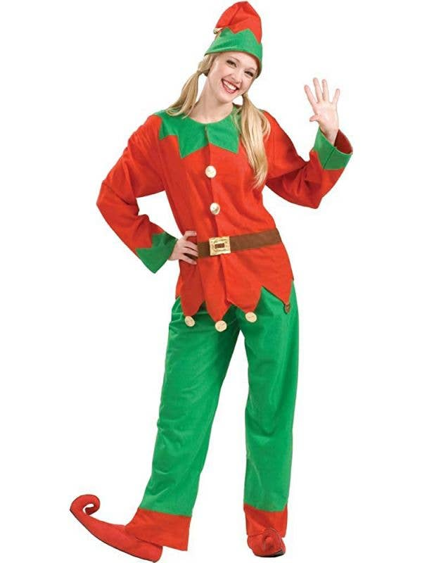 Classic Elf Costume Unisex Christmas Outfit Main Image