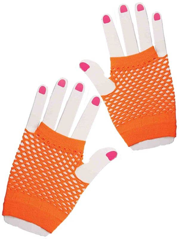 1980/'s Neon Lace Gloves Orange ***