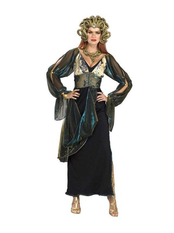 Medusa Costume Deluxe Snake Lady Halloween Demon Ladies Fancy Dress Costume