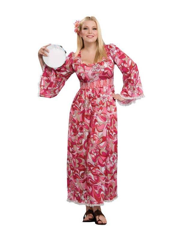 Plus Size Pink Hippie Costume Dress For Women Women S 1960 S Costume