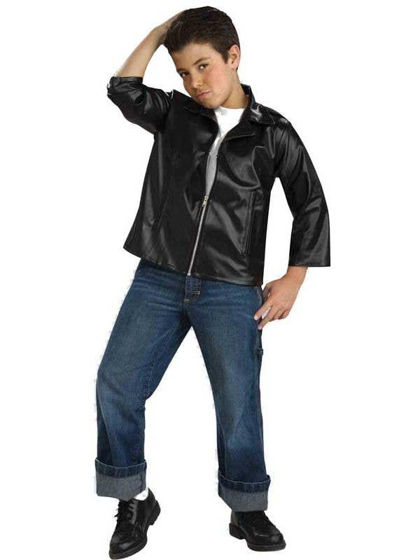 Boy's Rockabilly Greaser T-Bird Movie 50s Dress Up Costume - Main View