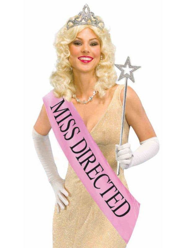 Miss Directed Hens Night Beauty Queen Prom Sash Crown and Scepter costume kit accessory main image